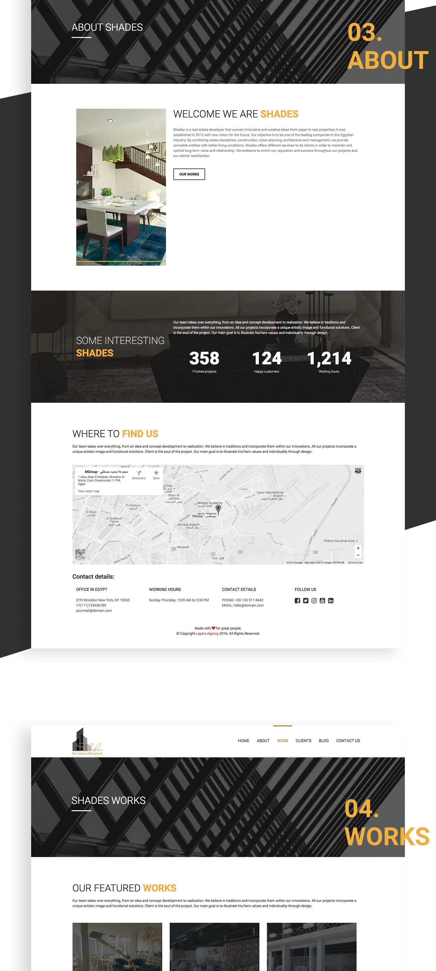 real estate management wordpress HTML css photoshop user experience UI
