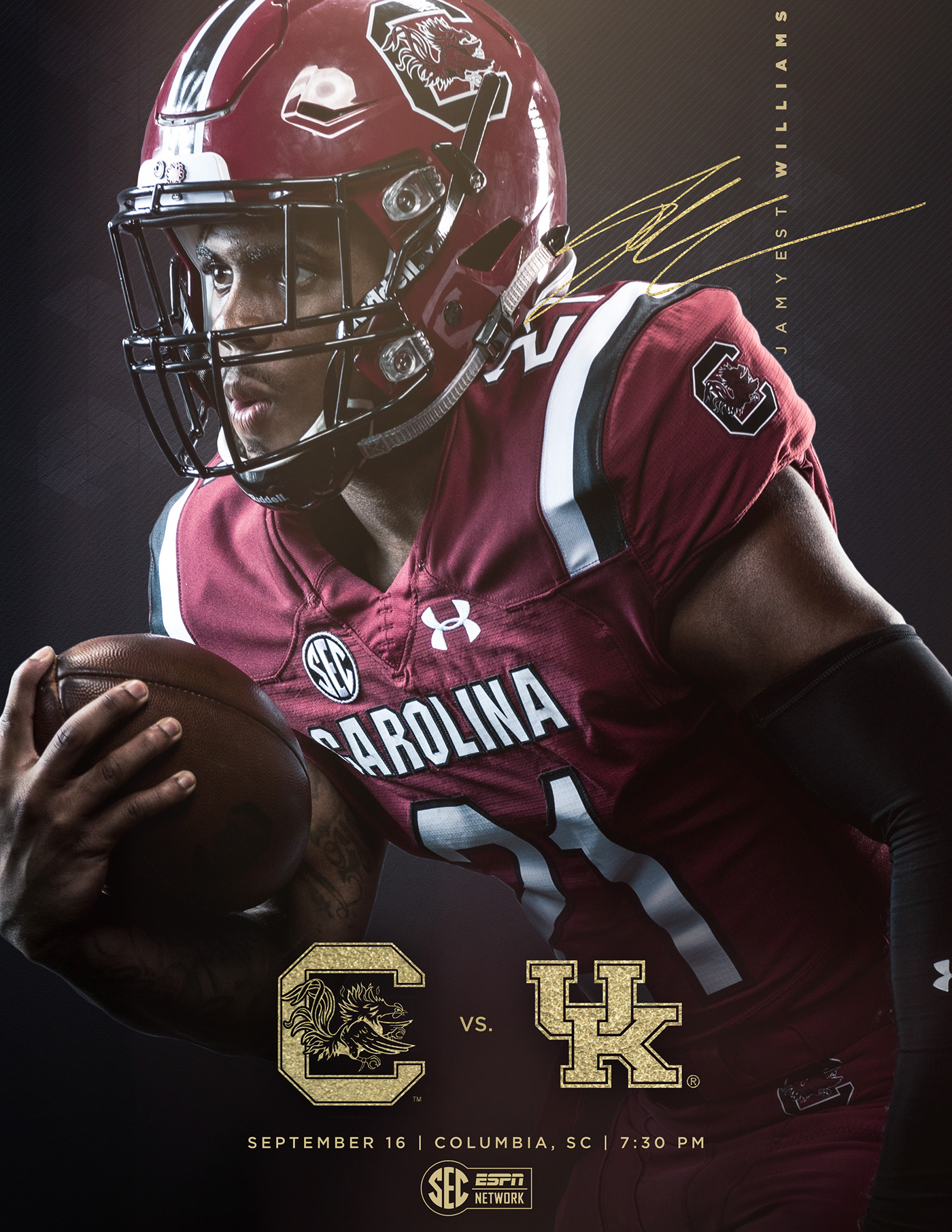2017 Gamecock Football Game Watch Mailers on Behance