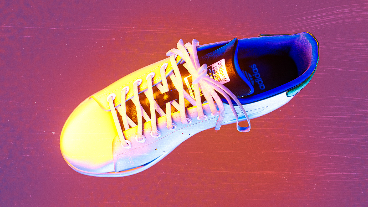 Top view of the Adidas Stan Smash sneaker
