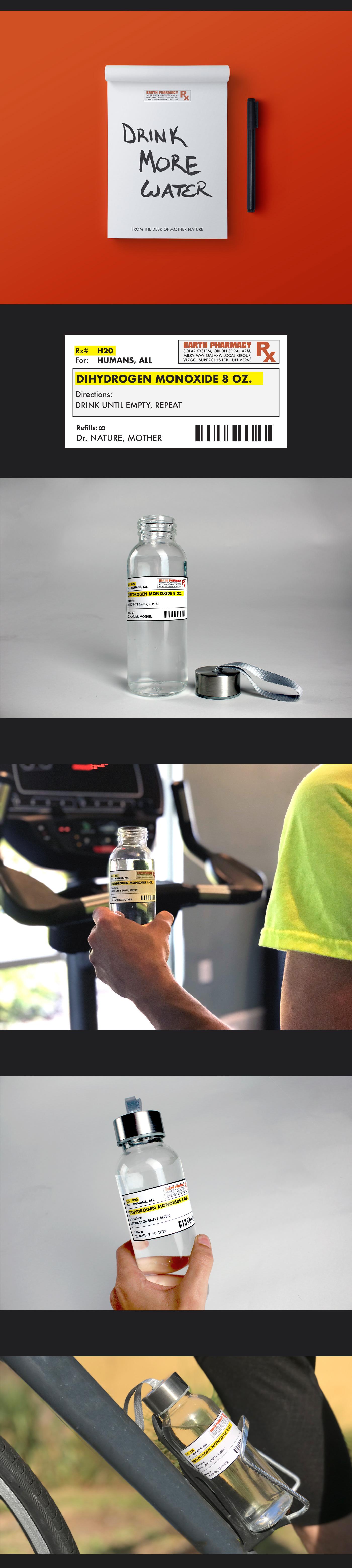 dihydrogen monoxide Water Botttle prescription prescription for water prescription water bottle doctor
