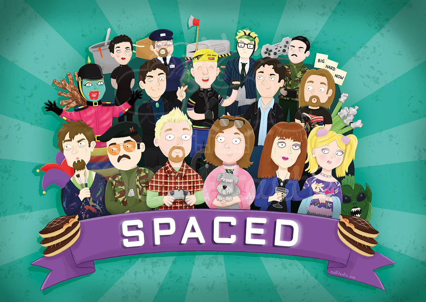 cartoon channel 4 commission cult daisy steiner ILLUSTRATION  Show spaced Tim Bisley tv