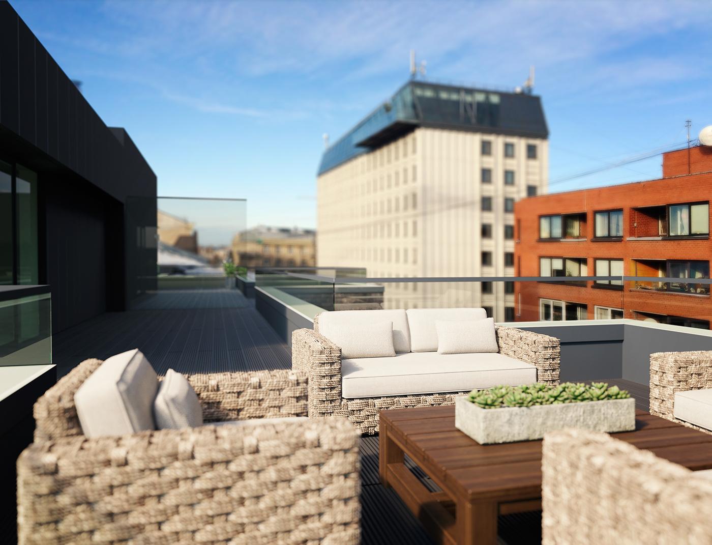 j5 BlackBell architectural visualizations exterior ideas