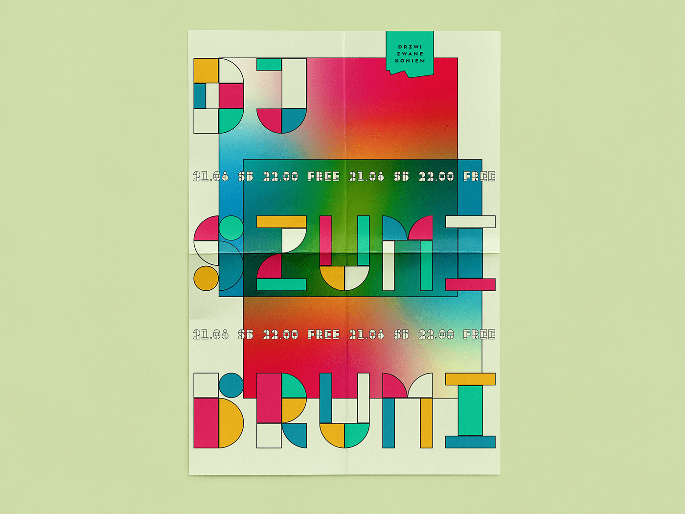colours Event graphic design  minimalist poster posters swiss style typography