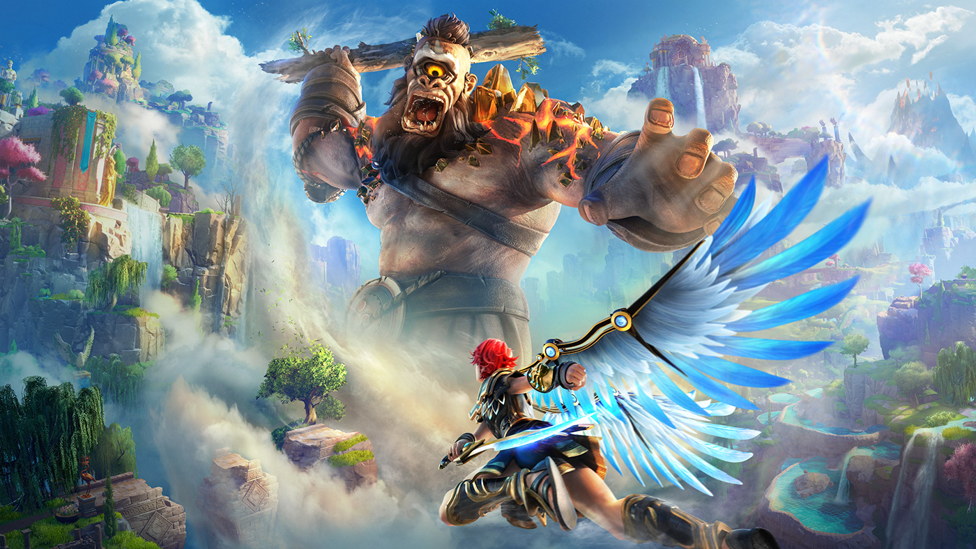 color cover cyclops gods Greece greek immortals fenyx rising Matte Painting mythology video game