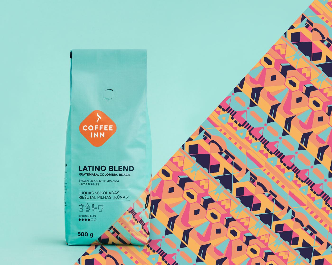 coffee inn coffee packaging Coffee Coffee roasters  Coffee Blend kavos pakuotės etiquette pakuočių dizainas Single origin safari blend