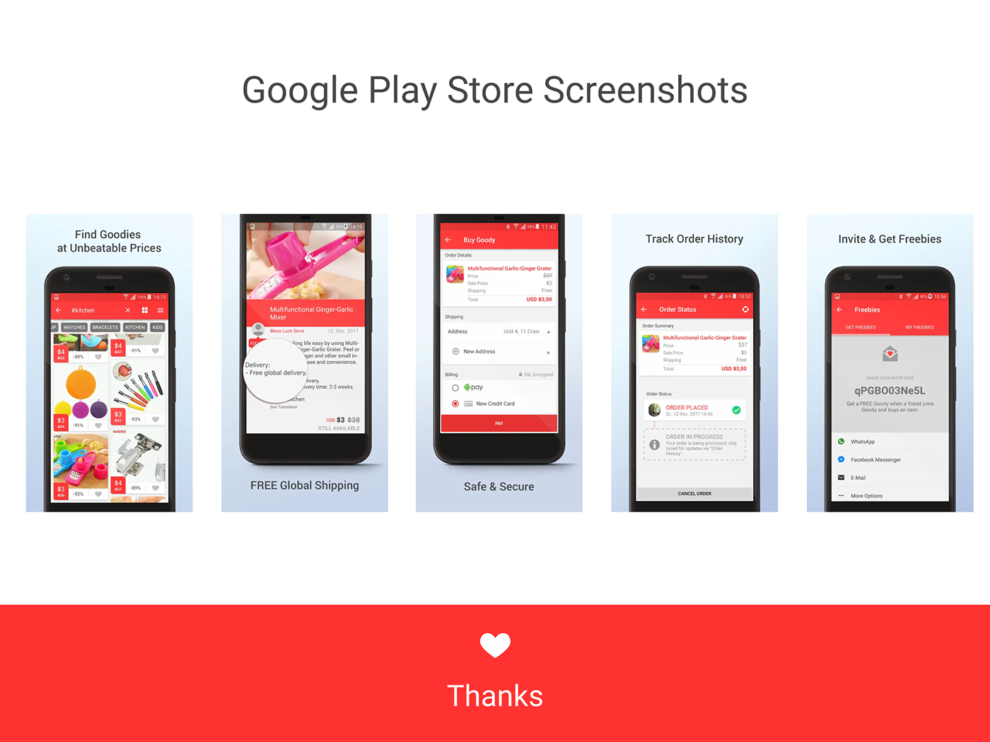 the goody shop Ecommerce online shopping Screenshots app store screenshots playstore screenshots branding  UI ux graphic design