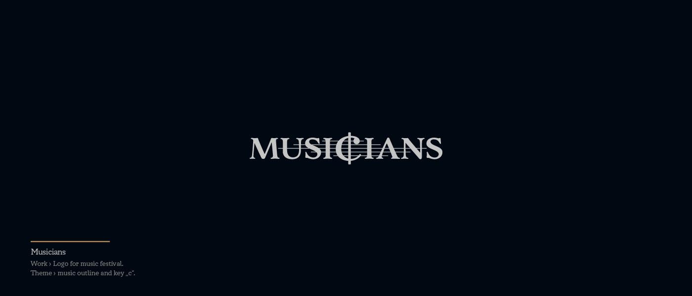 Musicians - logo for music festival