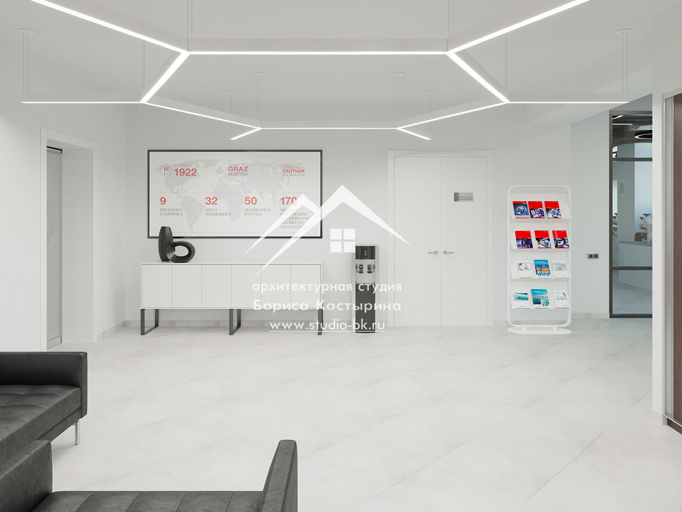 reception дизайн ресепшен дизайн-проект офиса