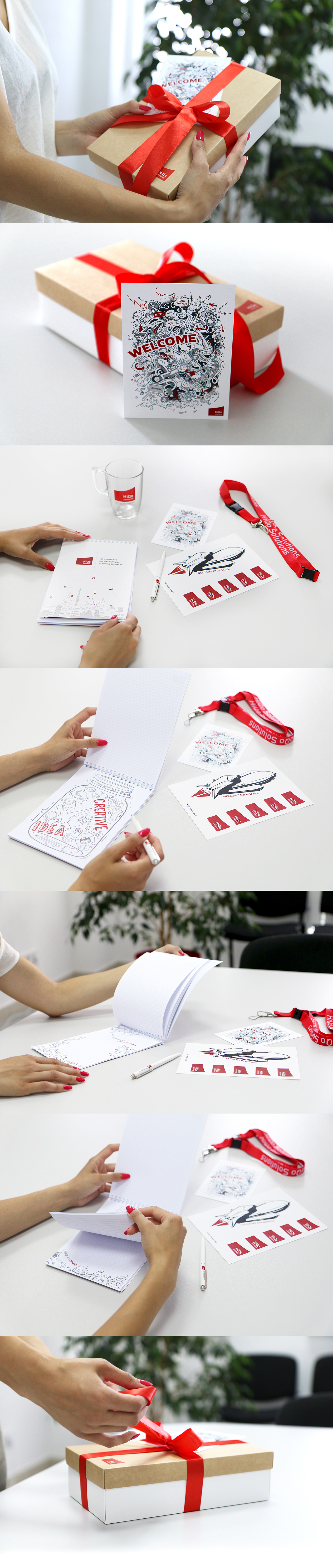 card notebook box gift pen cup welcome hiqo solutions IT