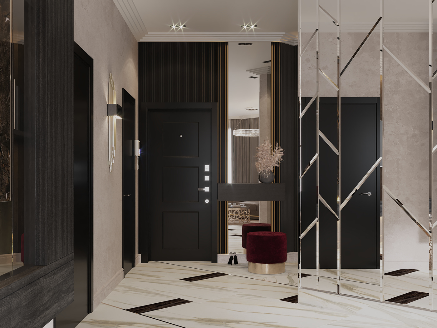 Image may contain: door, wall and interior