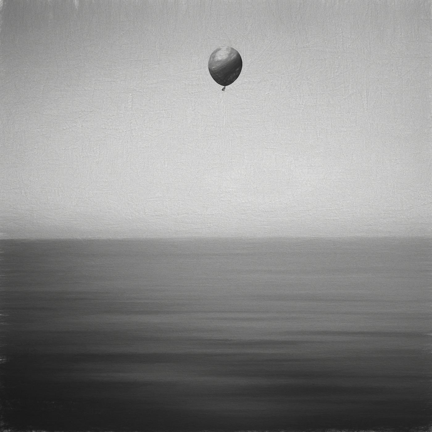 aDIEU L'ami bnw Drawing  FAREWELL TO FRIEND monochrome NVENTFISCHER Ocean