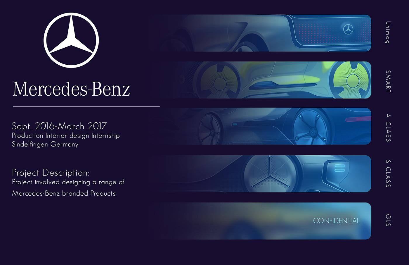 MercedesBenz Internship 2016 on Behance