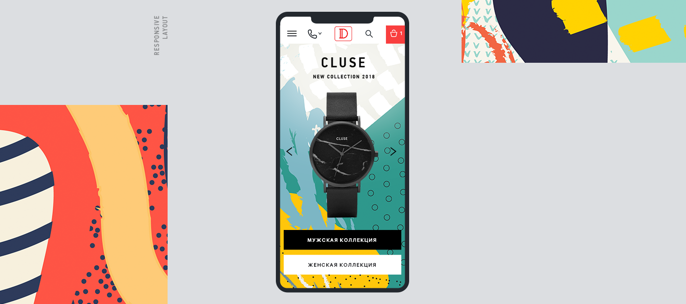 watch watch store часы Ecommerce store ux mobile Interface