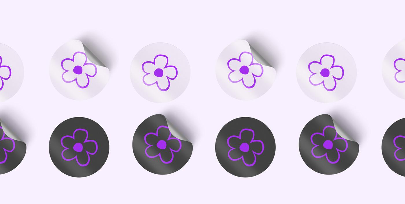 Adobe Photoshop adobeillustrator animation  brand Figma Flowers gif Onlineshop purple shop