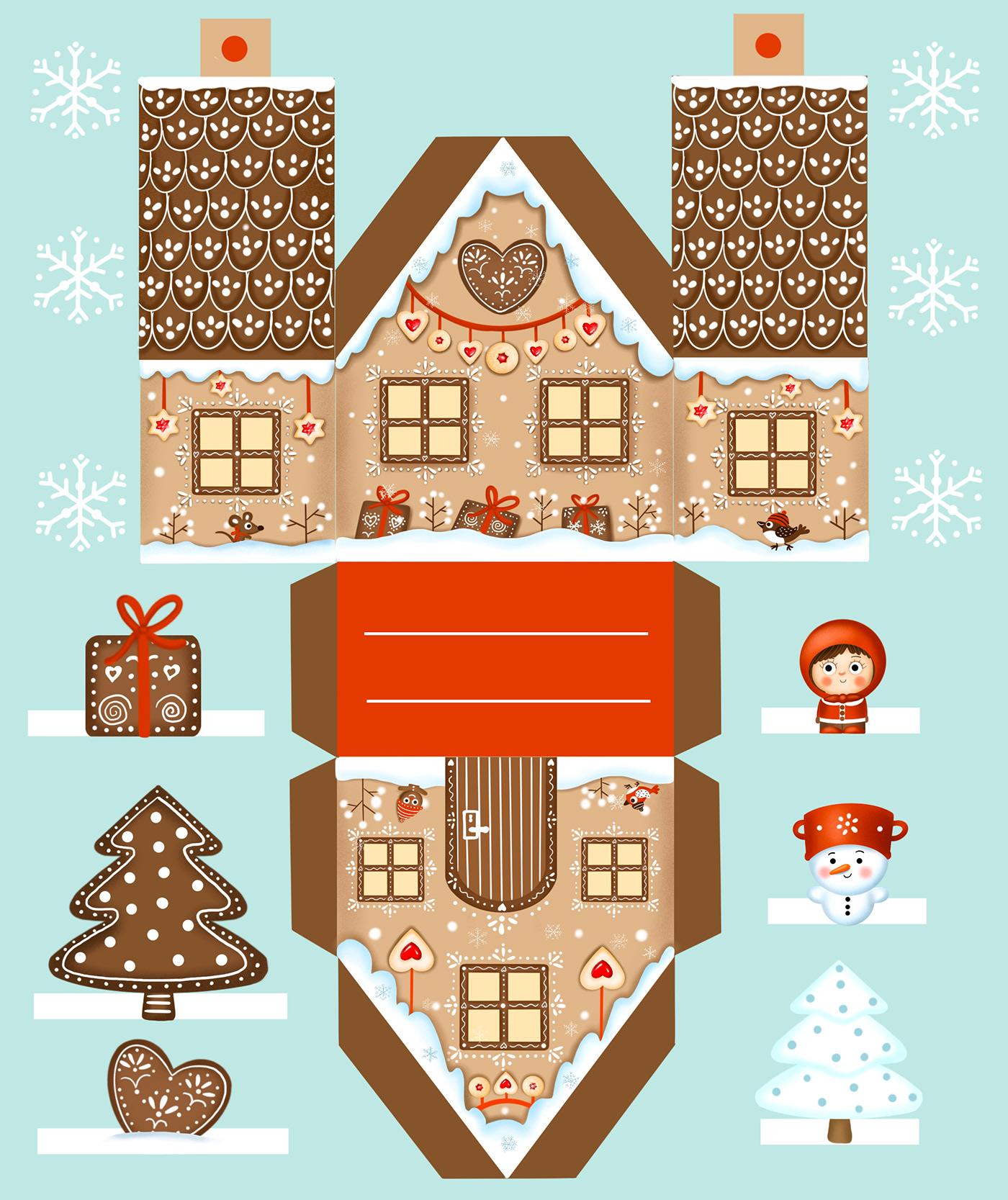 Christmas Gingerbread house perníček vanoce winter zima