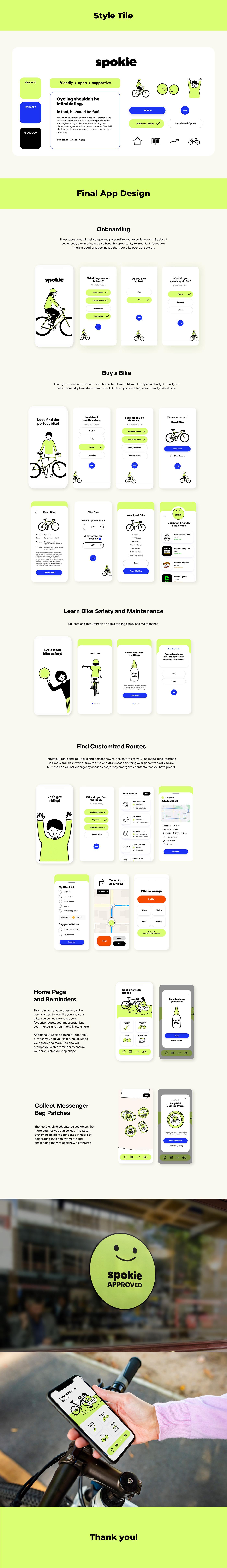 app design Bike cute Cycling Fun ILLUSTRATION  Mobile app sport Case Study