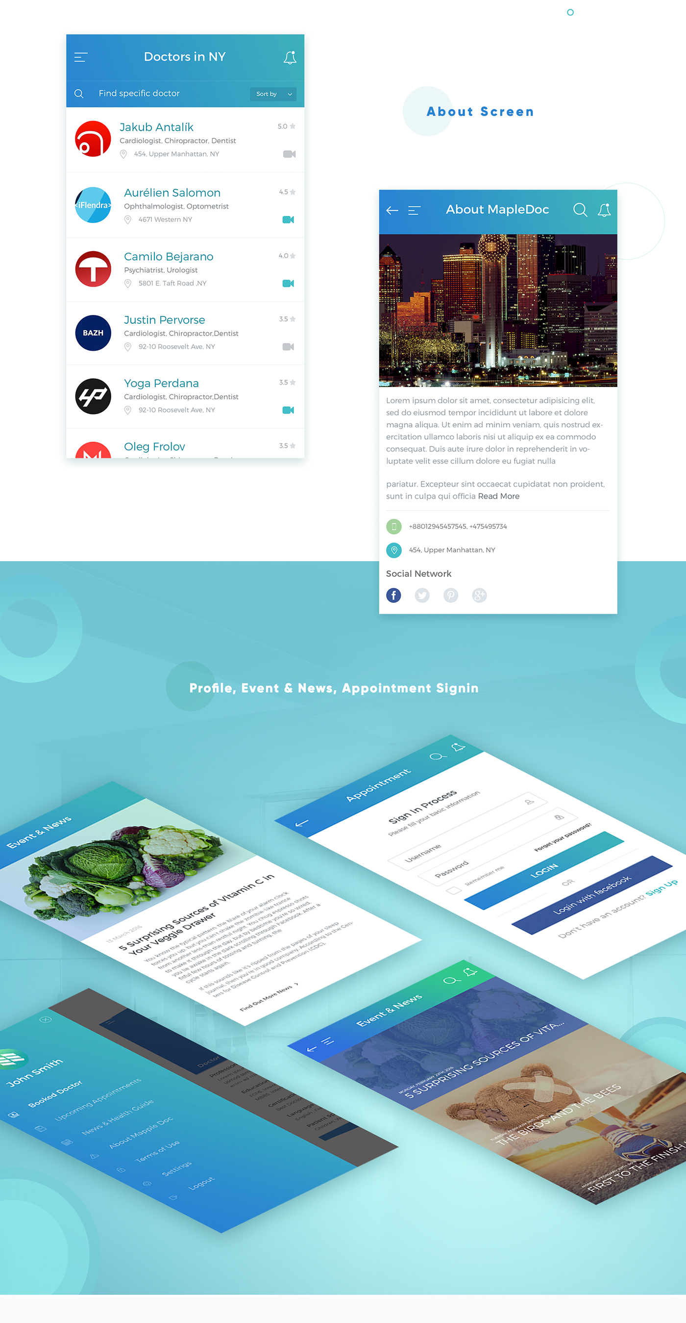 Medical/Healthcare Appointment App (iOS/Android) on Behance