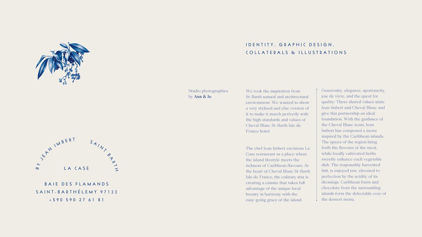 cheval blanc hotel ILLUSTRATION  Jean Imbert Logotype LVMH menus typography   Violaine & Jeremy vj-type