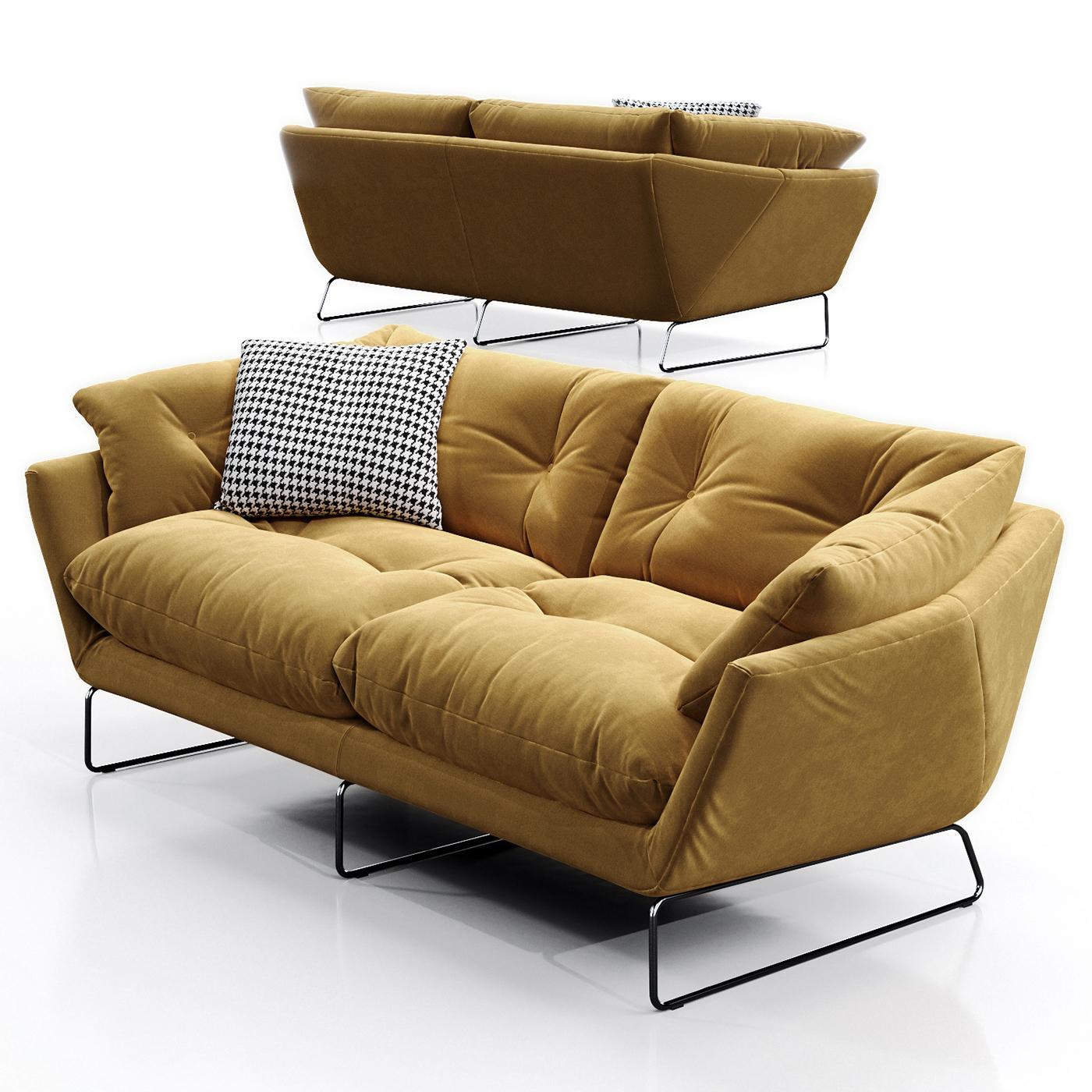 3d model saba italia new york suite sofa on behance for Sofa new york