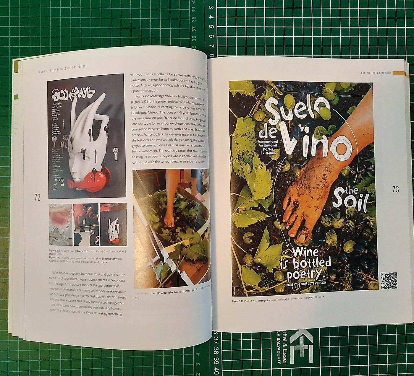 Exhibition  Francesco Mazzenga from concept Graphic Design Book making posters Natalia Delgado poster Scott Laserow Suelo de Vino TO DESIGN