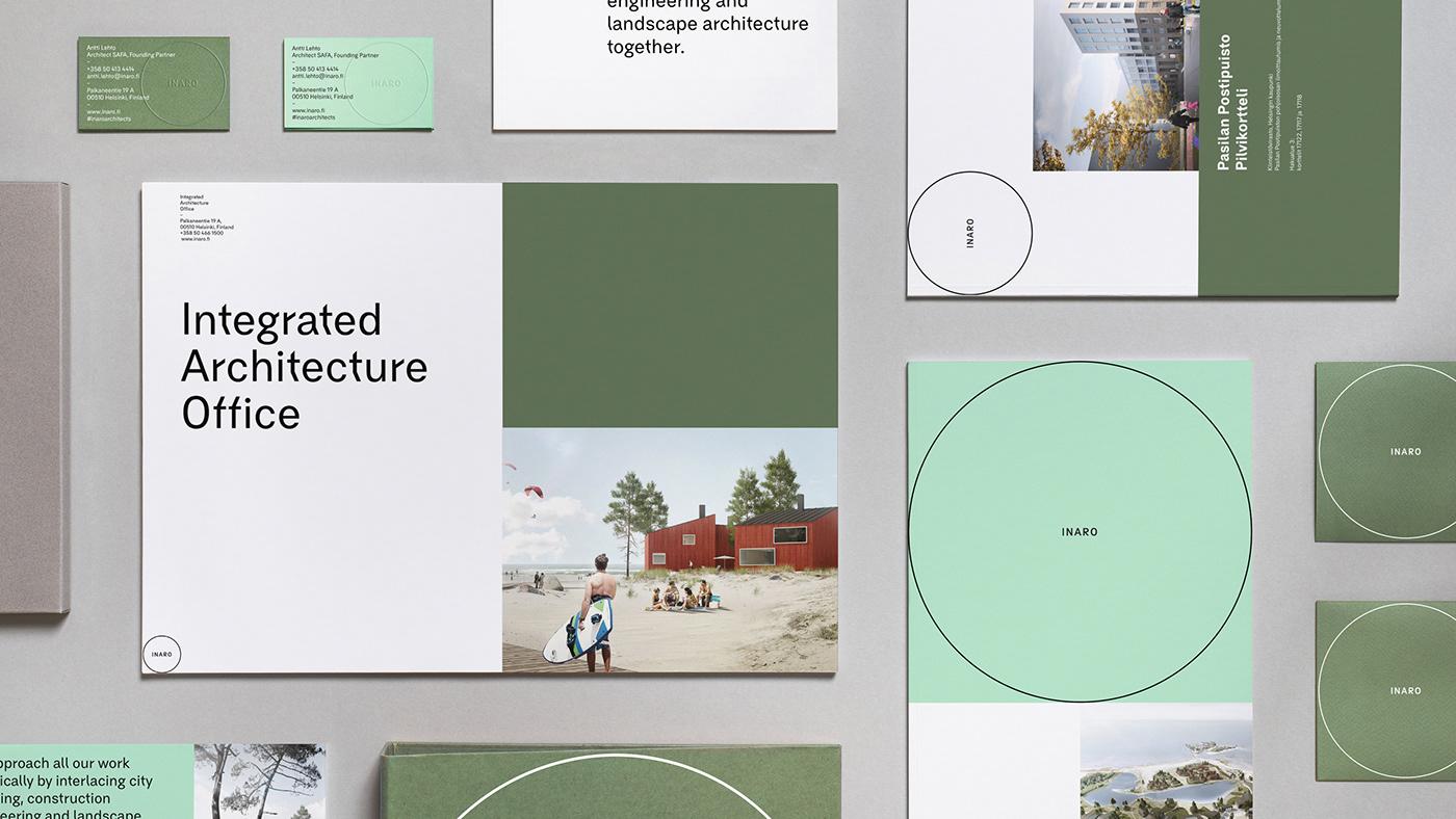 architecture visual identity Landscape Architecture  Adaptive Stationery Web Design  redesign