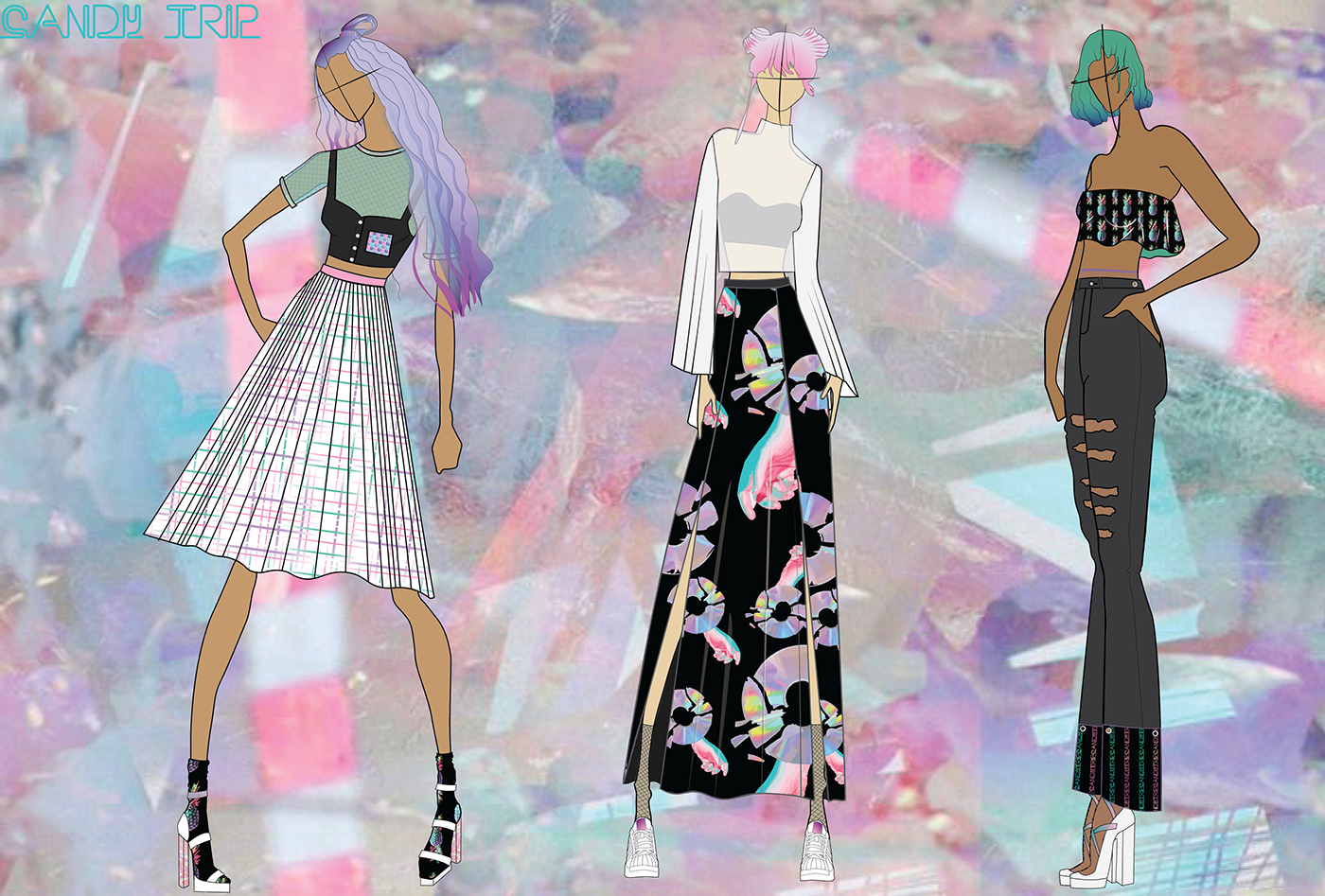 Candy Trip Cad For Fashion Design Final Project On Behance