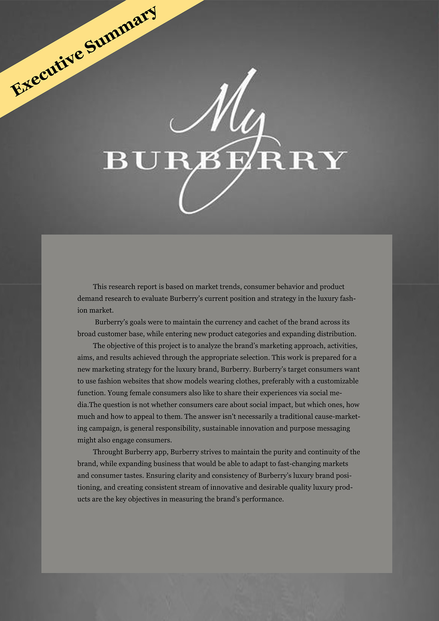 e459bed1ad30 Burberry Business Strategy