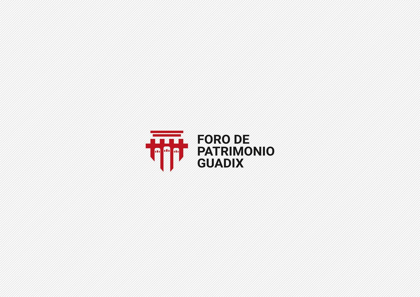 Logotipo logo Identidad Corporativa identidad patrimonio guadix branding  brand