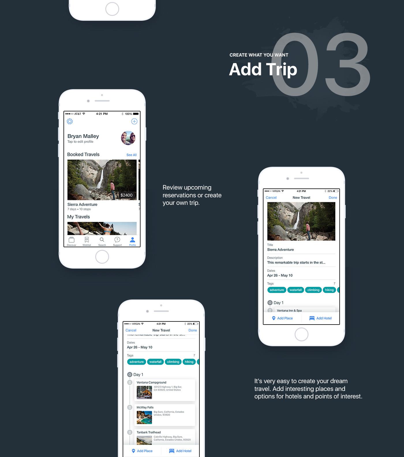 ios app iphone Travel trip hoptrip