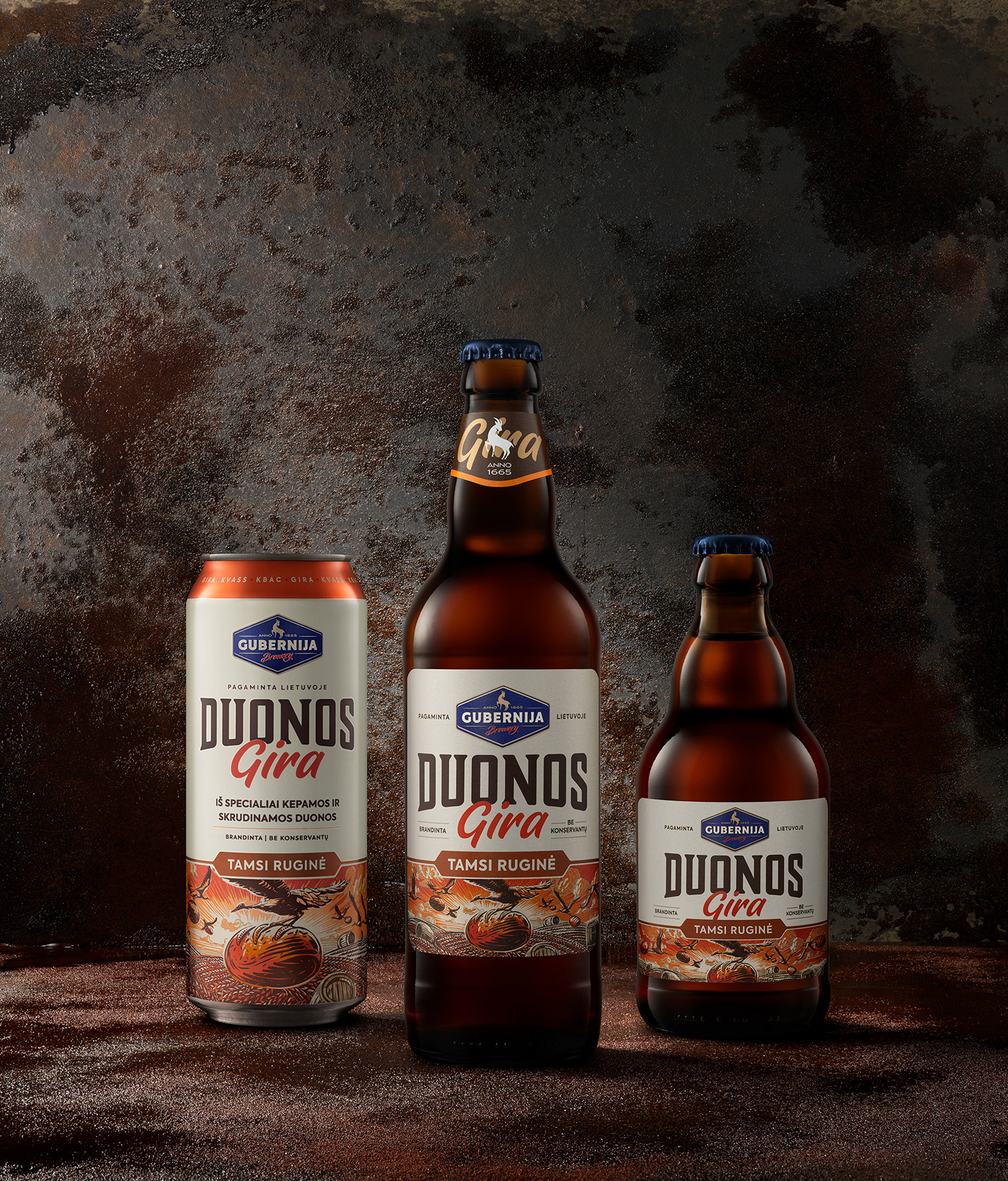 Packaging soft drinks kvass bottle can label design godspeed branding lithuania