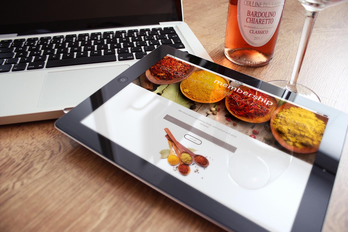 brand mark logo Food  Coffee restaurant bistro company business Responsive mobile app Web modern bar