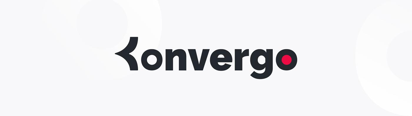 Résultat final du logo de Konvergo.