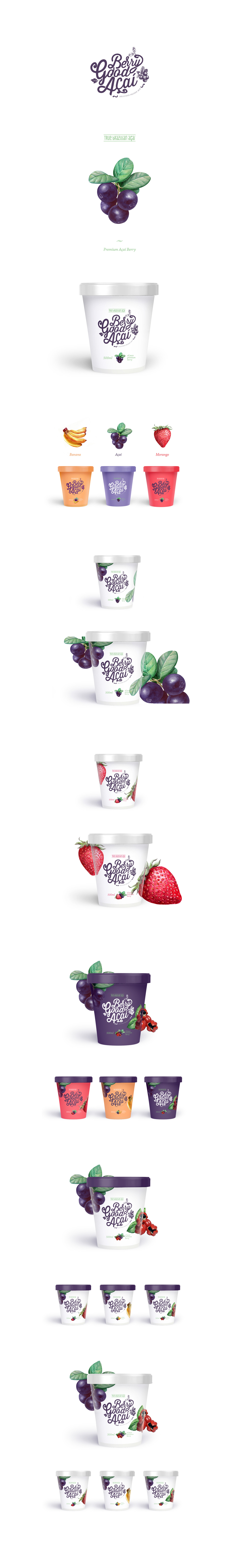 ice cream Logo Design Packaging branding  clean natural modern elegant organic yogurt