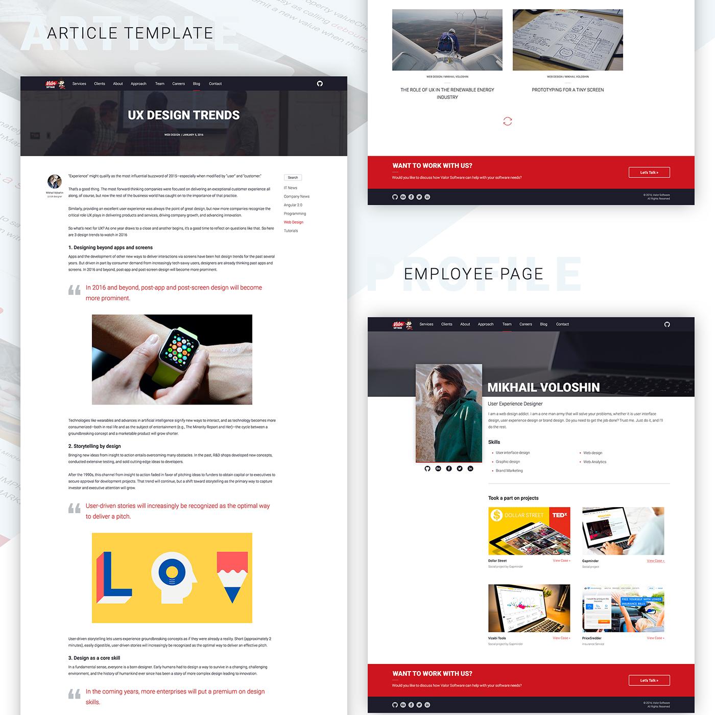 Valor Software Corporate Website On Behance