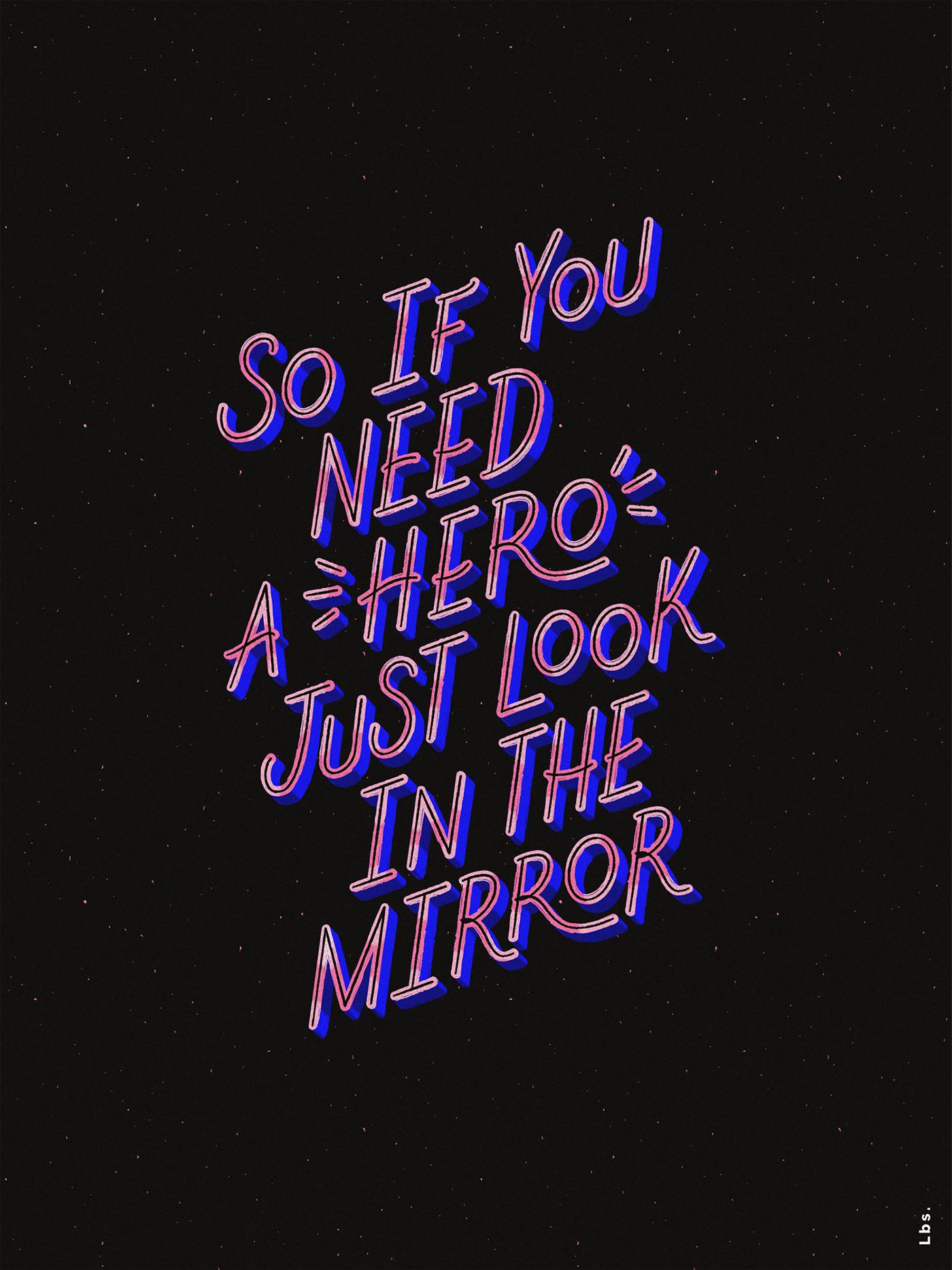 type lettering Lyrics kali uchis ILLUSTRATION  Hero music inspire UI Digital Art