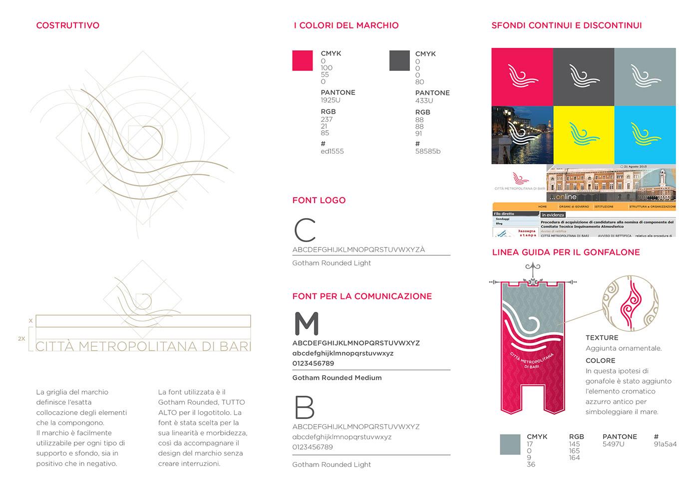 bari logo brand identity identity stemma gonfalone graphic Project CONCORSO bando