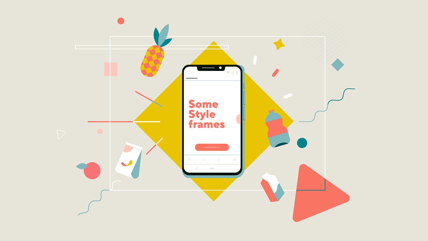 animation2d app delivery explainer Shooper shop Shopping
