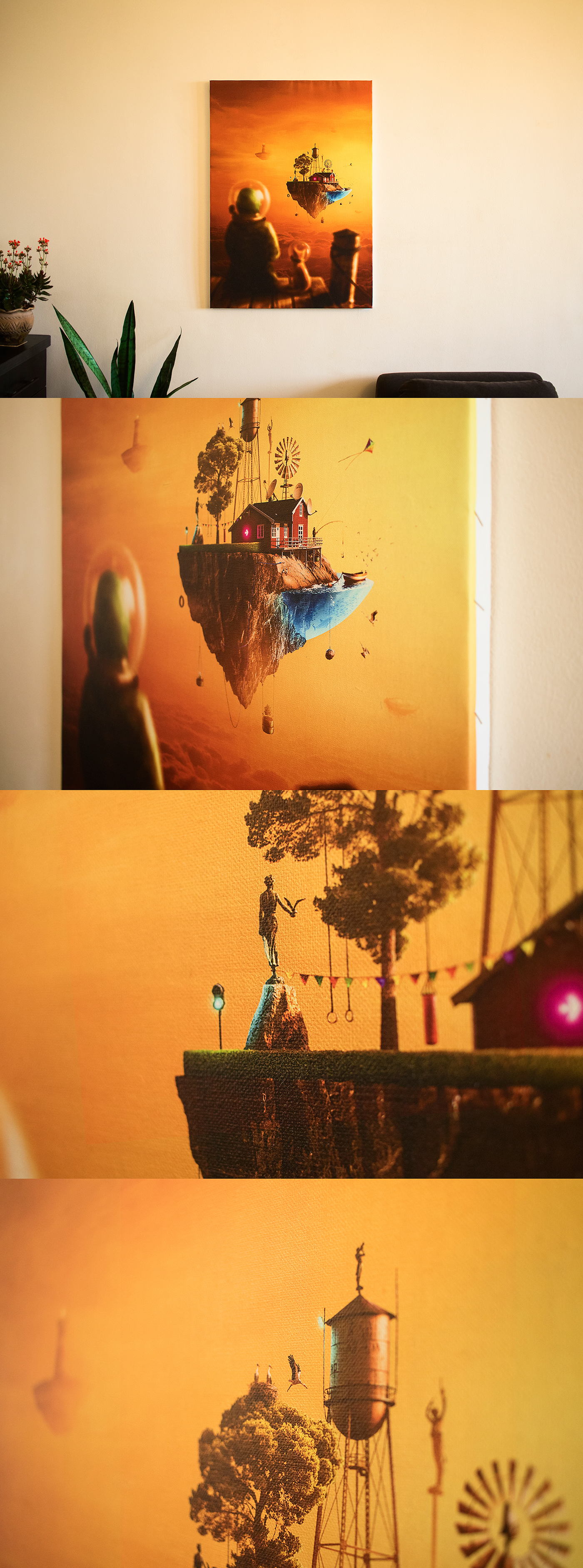 hello dreamland Flying Island Photo Manipulation  Matte Painting compositing people Covid 19 stay home