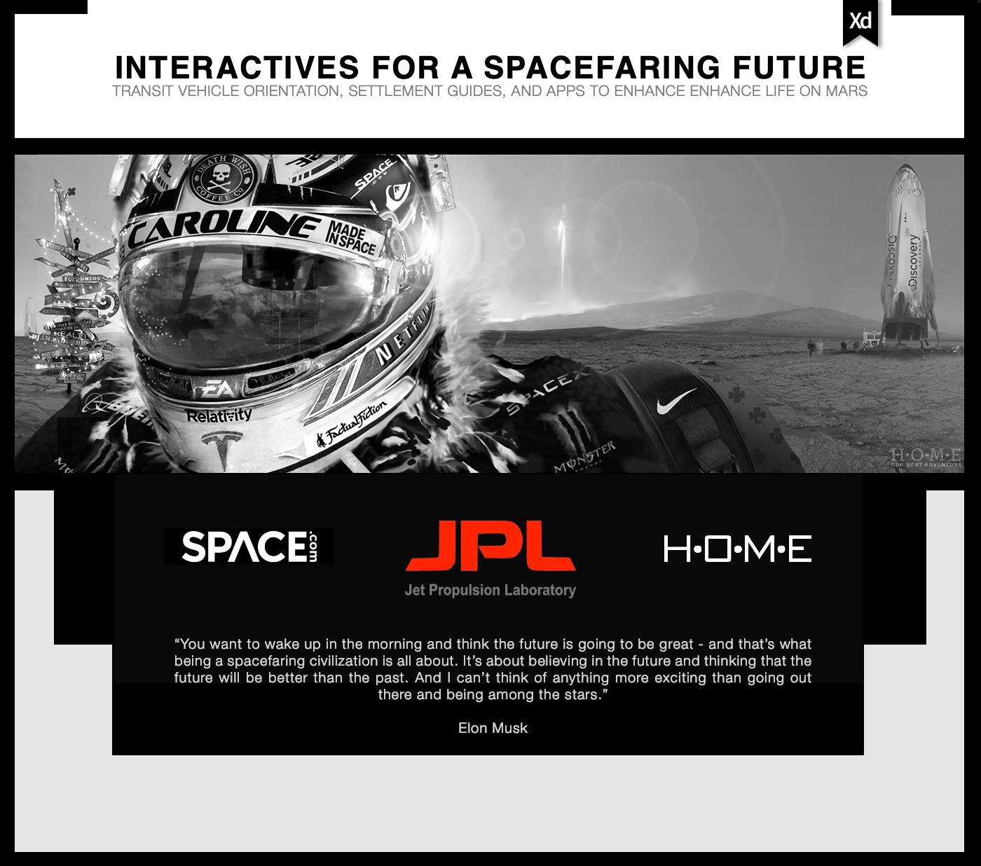 JPL spacex graphic design  Adobe XD photoshop nasa