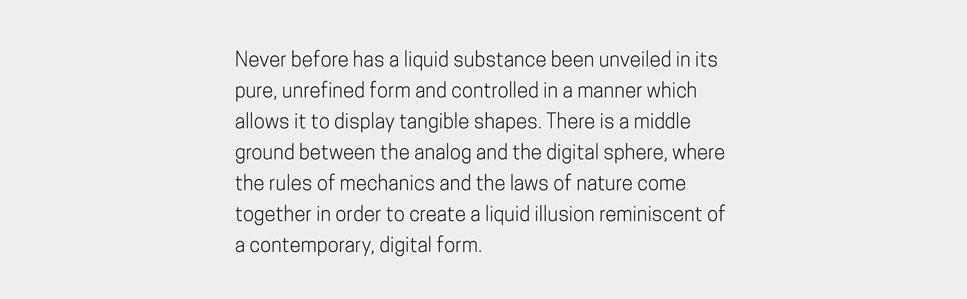 clock Liquid ferrofluid rhei time prototype mechanics Electronics magnet magnets device