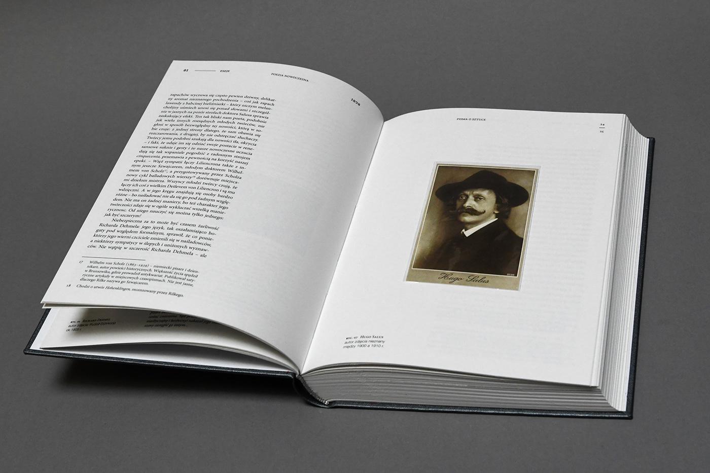 book design editorial design  letters art essey Rainer Maria Rilke
