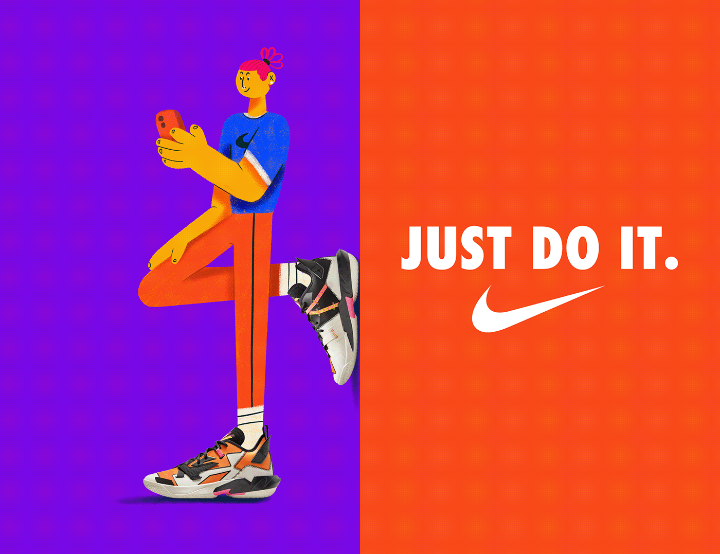 campaign characters creative design inspiration Nike shoes snkrs