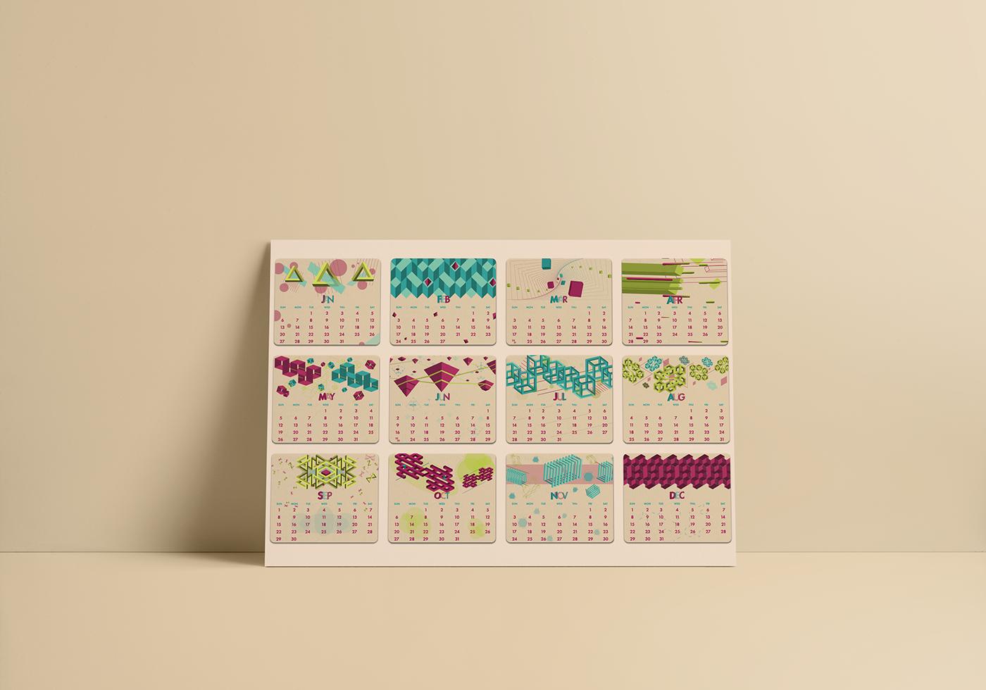 精品的36個月曆設計欣賞