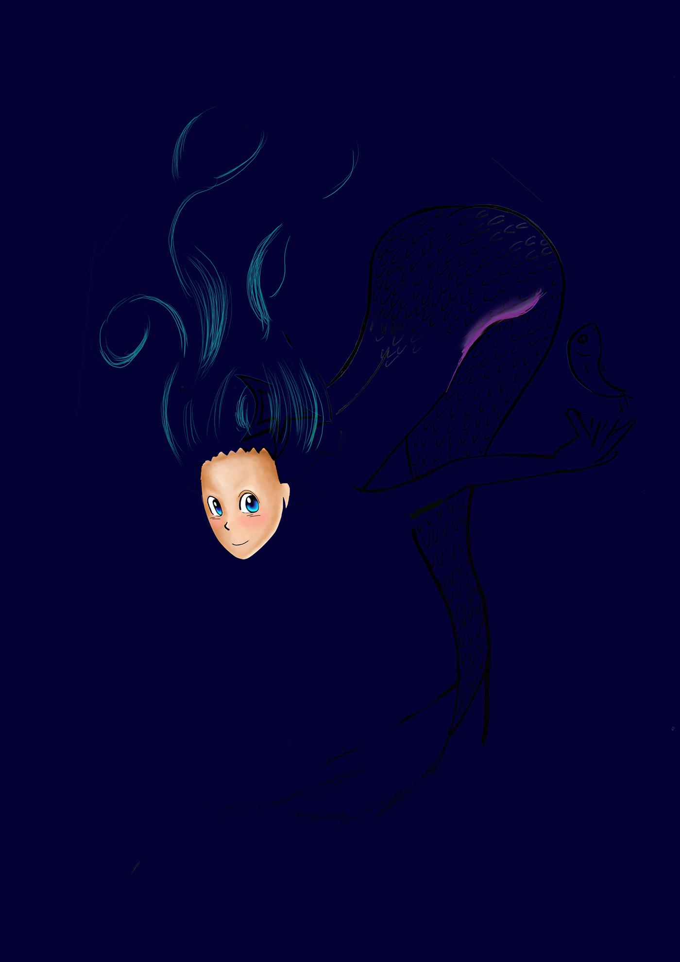 mermaid artdigital photoshop sirena