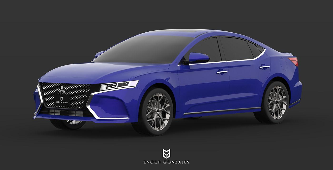 2020 Mitsubishi Galant on Behance