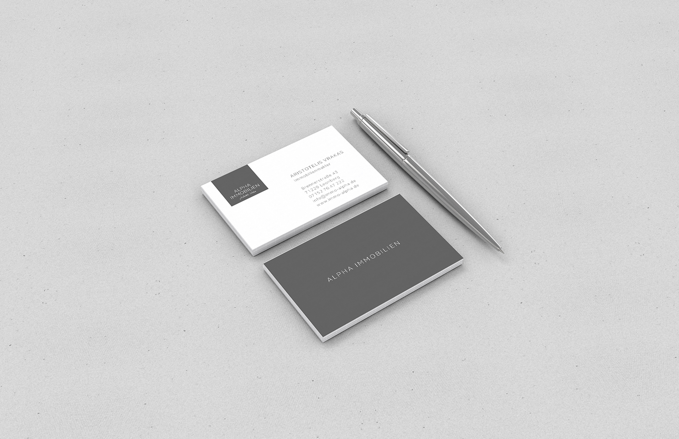Immobilienmakler Leonberg branding alpha immobilien on behance