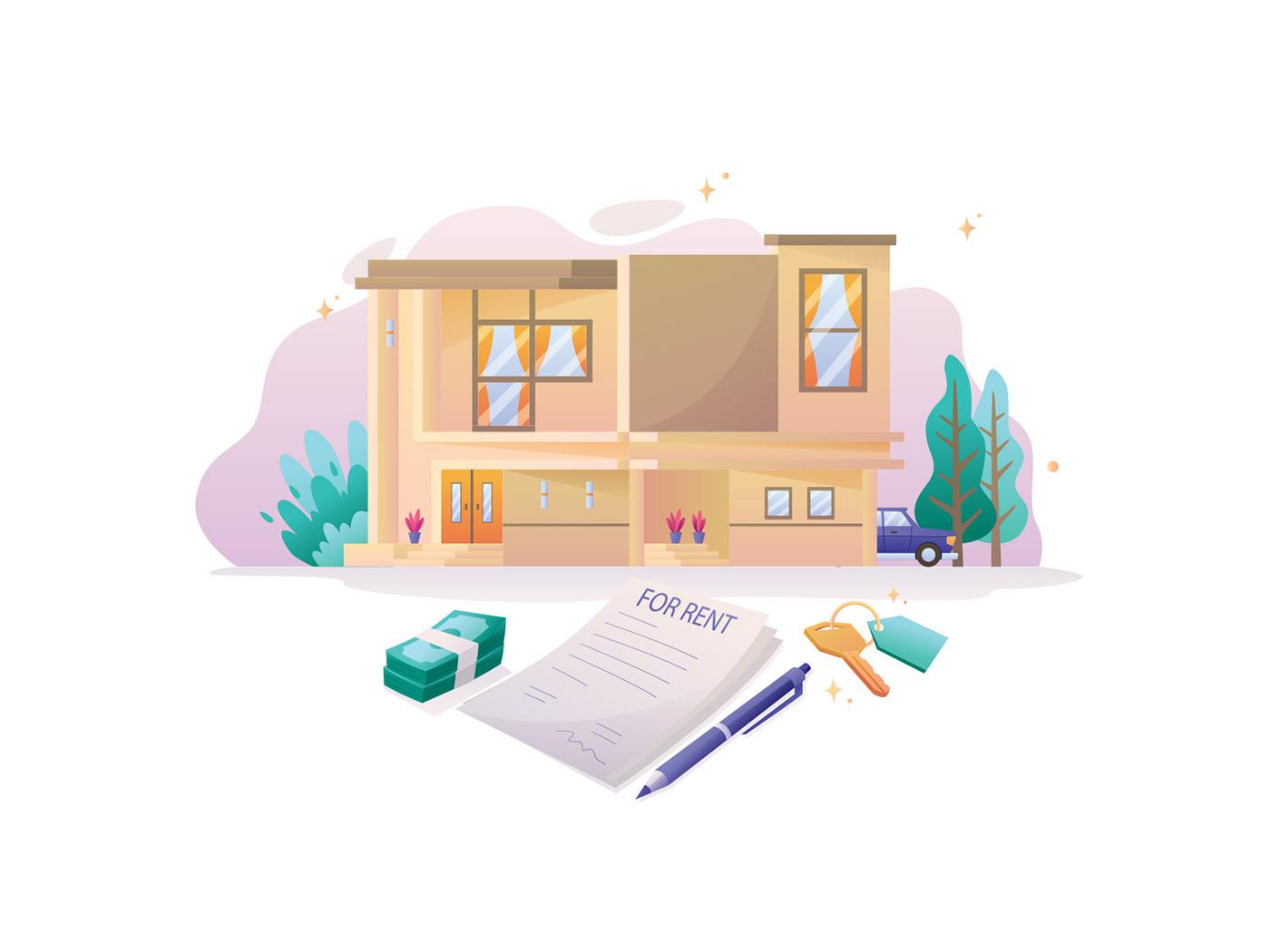 Character freebie ILLUSTRATION  Illustrator real estate real estate illustration vector vector design vector download Vector Illustration