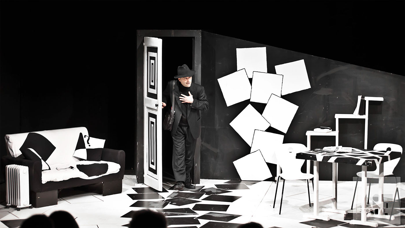 fotografo di scena fotografo eventi set photographer Tre sull'altalena spettacolo teatrale milano
