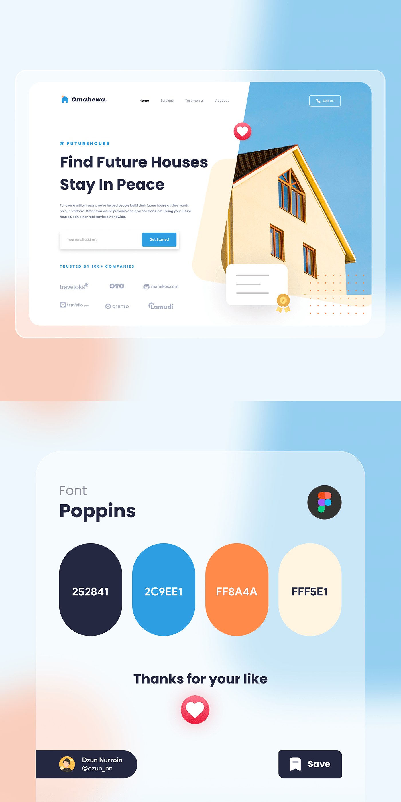 housing landingpage uiux Webdesign