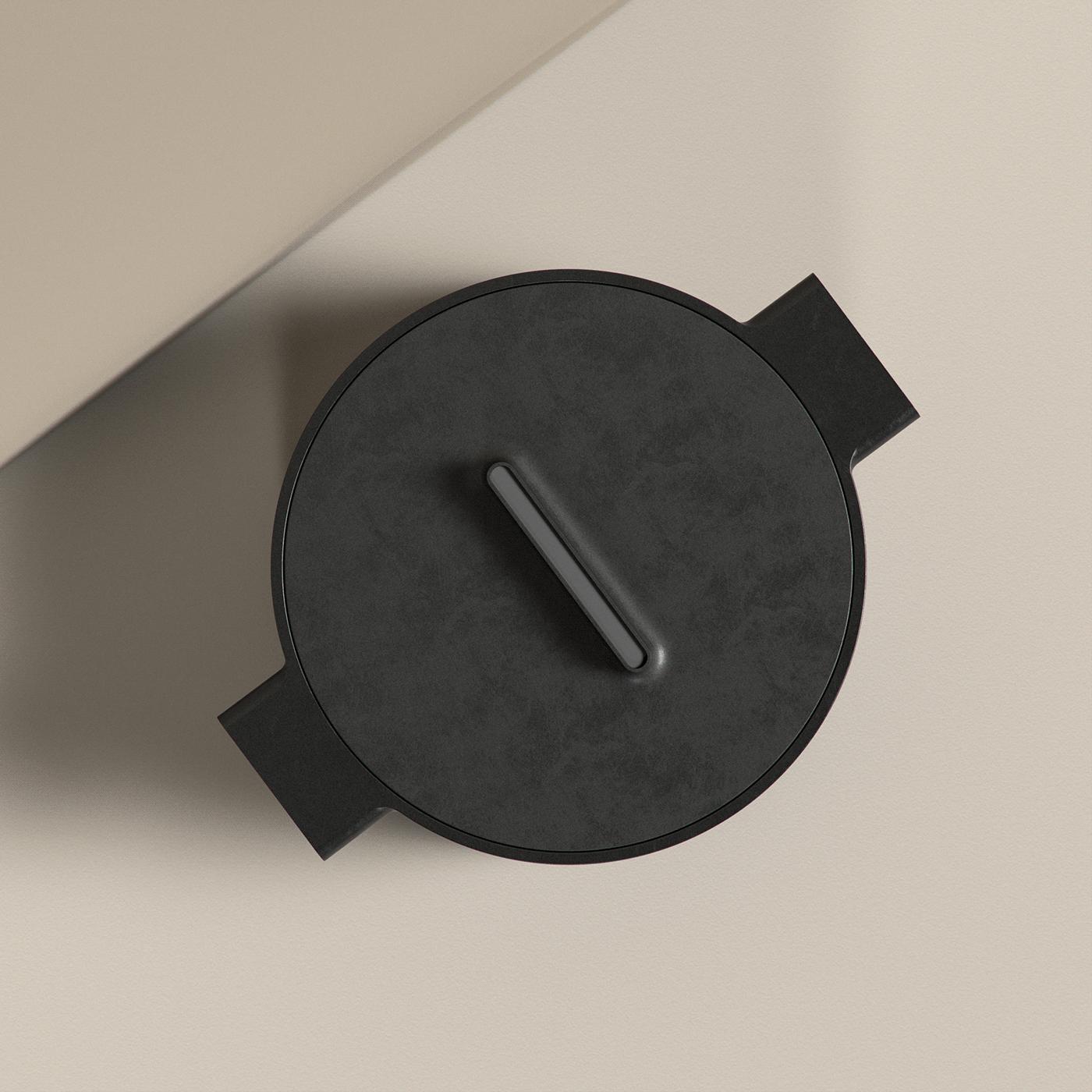 Image may contain: wall and clock